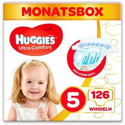 Huggies Windeln Ultra Comfort Baby Größe 5 Monatsbox 126 Stück