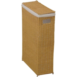 Wäschekorb (1 Stück), für schmale Nischen geeignet, nur 16 cm breit braun
