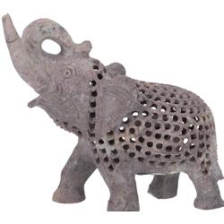 Guru-Shop Dekofigur Speckstein Elefant aus Indien
