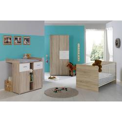 BMG Babyzimmer-Komplettset Maxim, (Set, 3-St), Bett + Wickelkommode + 3-trg. Schrank
