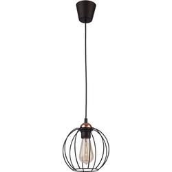 Licht-Erlebnisse Pendelleuchte GALAXY Schwarze Hängelampe geometrisch modern Pendelleuchte Lampe