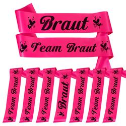 Schärpe Braut + Team Braut Schärpen Set JGA Junggesellinnenabschied Accessoires pink