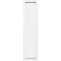 KM Zaun Türseitenteil S04, für Alu-Haustür, weiß