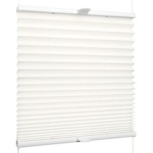 SchattenFreude Plissee nach Maß für Fenster & Tür | Zum Anschrauben in der Glasleiste | Naturweiß, Breite: 1301-1400mm x Höhe: 1501-2000mm