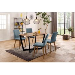 my home Esstisch Dinise, mit eckiger Tischplatte