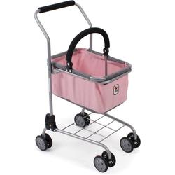 CHIC2000 Spiel-Einkaufswagen Kinder Einkaufswagen, grau-rosa