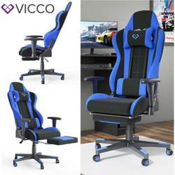 VICCO Gamingstuhl ALPHA schwarz blau Bürostuhl Schreibtischstuhl Drehstuhl Sport