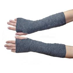 Posh Gear Armstulpen Alpaka Handstulpen 100% Alpakawolle grau