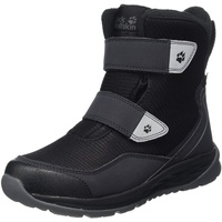 Jack Wolfskin Unisex Kinder Polar Bear Texapore HIGH VC K Schneestiefel, Black/Grey, 33 EU