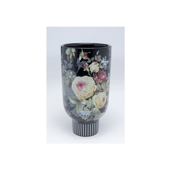 KARE Dekovase Deko Vase Blooming Schwarz 27