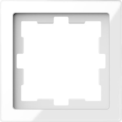Merten MEG4010-6520, D-Life Glas Rahmen, 1fach, Kristallweiß