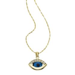 Firetti Kette mit Anhänger Das Auge Gottes / Magisches Auge, mit Kristallsteinen und Zirkonia
