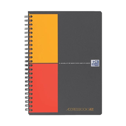 Adressbook A5, spezielle Lineatur 72 Blatt - Optik Papier, Oxford, 15x21.5 cm