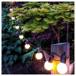 Rosnek Lichterkette G50 20 LED Lichterkette Glühbirnen Außen Garten String Licht Birnen Party Deko