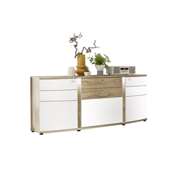Wohn-Concept Sideboard Terra Plus in weiß matt/Eiche Altholz-Optik