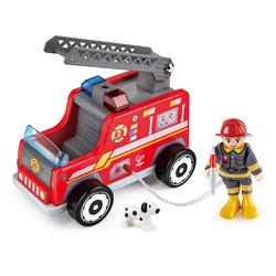 Hape Spielzeug-Feuerwehr Feuerwehr-Trupp (Set) rot Kinder Ab 3-5 Jahren Altersempfehlung Spielzeugfahrzeuge