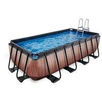 EXIT TOYS Pool Wood 400 x 200 x 100 cm inkl. Sandfilterpumpe