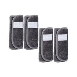 Navaris Waschlappen (4-St), 4x Mikrofaser Abschminktücher Set - Make Up Handschuh für Lidschatten Lippenstifte - waschbar nachhaltig - Abschmink Lappen