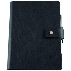 bind 15800 - Notizbuch Mappe DIN A5 mit Ringmechanik, Ringbuch aus Lederimitat, Notizbuchmappe ca. 23 x 17 x 3 cm, Organizer mit 80 Blatt, Kunstledermappe mit linierten Notizblock Natur