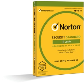 NortonLifeLock Norton Security Standard 3.0 ESD DE Win Mac Android iOS