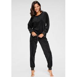 Triumph Pyjama aus Velvet mit Glanzstreifen 46