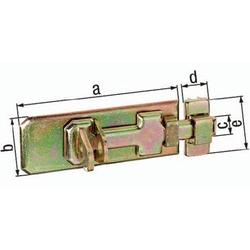 Sicherheits-Schlossriegel L.80mm B.35mm STA galv. gelb verz. GAH