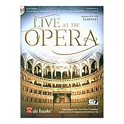 Live at the Opera - Clarinet  w. Audio-CD - Buch