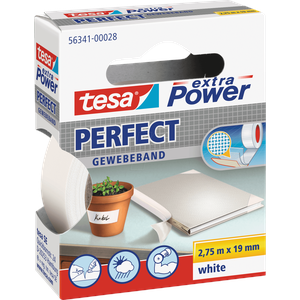 TESA 56341 WS - Gewebeband tesa extra Power® Perfect, 2,75 m x 19 mm, weiß