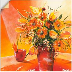 Artland Wandbild Blumenstrauß in Vase I, Blumen (1 Stück) 100 cm x 100 cm