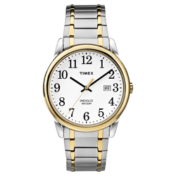 Men's Timex Easy Reader Expansion Band Watch - Two-Tone TW2P81400JT, Silver/Silver/Silver