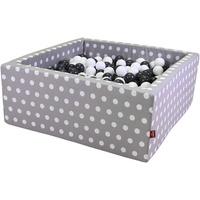 KNORRTOYS Bällebad soft grey white dots inkl. 100 Bälle grey/creme