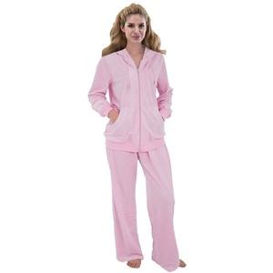 Damen 2tlg Micro Velours Hausanzug Reißverschluss Fitnessanzug Freizeit Anzug