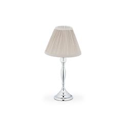 relaxdays Nachttischlampe Kristall Tischlampe silberfarben