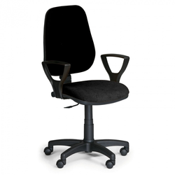 Bürostuhl comfort pk, mit armlehnen - schwarz