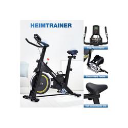 Gotui Heimtrainer Speedbike Fitnessbike Indoor Cycling Bike, Fahrradtrainer, Indoor-Fahrrad Trimmrad mit 8KG Schwungrad, Schwarz und Gelb