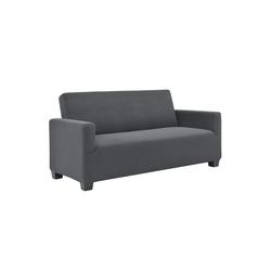 Sofahusse, neu.haus, 120-190cm Dunkelgrau Sofabezug 2-Sitzer grau