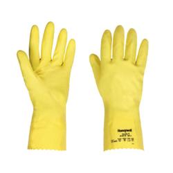 Honeywell Schutzhandschuhe CLEAN YELLOW, Finedex Ungefütterte Handschuhe aus Latex, 1 Paar, Größe: 7