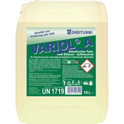 Dreiturm VARIOL® A Lösemittel, Alkalischer Fett- und Öllöser, duftneutral, 10 l - Kanister