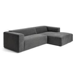 Sofa mit Récamière Milano grau, Designer SITS, 70x280x170/98 cm