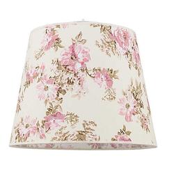Licht-Erlebnisse Lampenschirm WILLOW Stoff Lampenschirm für Stehlampe Rosa floral Blumen E27 Lampe