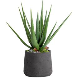 Blütenwerk Kunstpflanze Aloe grün Künstliche Zimmerpflanzen Kunstpflanzen Wohnaccessoires
