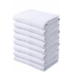 my home Handtücher Juna (8-St), im Vorteilspack weiß