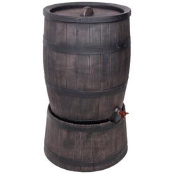 ONDIS24 Regentonne Wasserfass Regentonne Wasserbehälter Amphore Eichenfass 120 Liter mit Ständer, 120 l