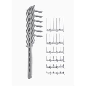 Original CombPal haarschneidekamm, Scherenschneider über Kamm Haarschneidewerkzeug, haare schneiden hilfe Haarschneideset, Barber Haircutting Comb Set (Grau)