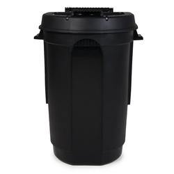 ONDIS24 Mülleimer Gartentonne mit 2 Rädern, Mülltonne 110 Liter Volumen, Abfalltonne mit weit öffnendem Deckel, Outdoor Mülleimer