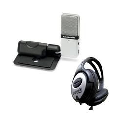 Samson Mikrofon Samson GO Mic USB Mikrofon + keepdrum Kopfhörer