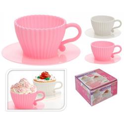 Cupcake & Muffin Backform aus Silikon - Kuchenform in Tassenform - 4er Set
