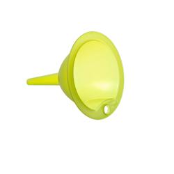 Rotho VULCANO Trichter, grün, Kleiner Trichter aus Kunststoff, Durchmesser: 9 cm
