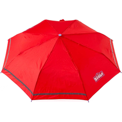 Scout Taschenregenschirm, mit Reflektorband rot