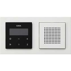 Gira Unterputz-Radio RDS m. E2 Rahmen rws 049572